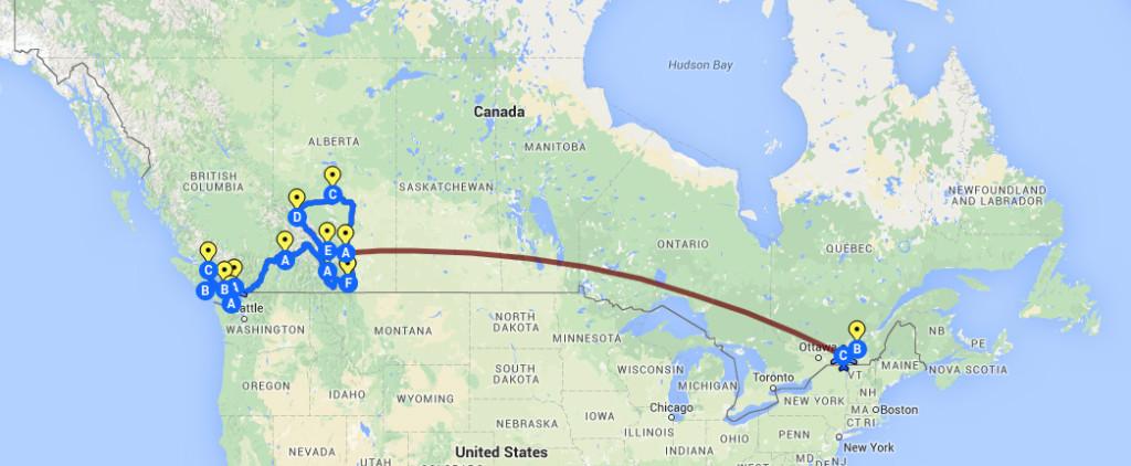 Kanada - Route